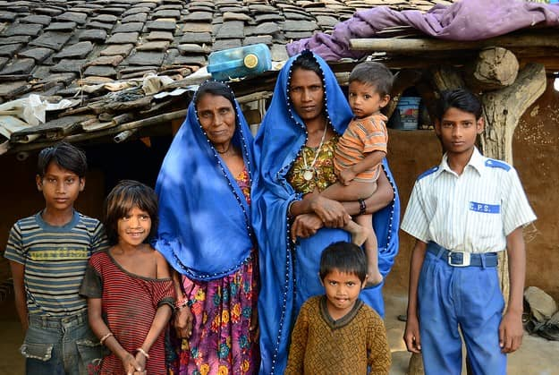 A family in Bakhel, one of 370 surveyed by our team.