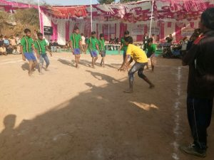 A Kabaddi game underway
